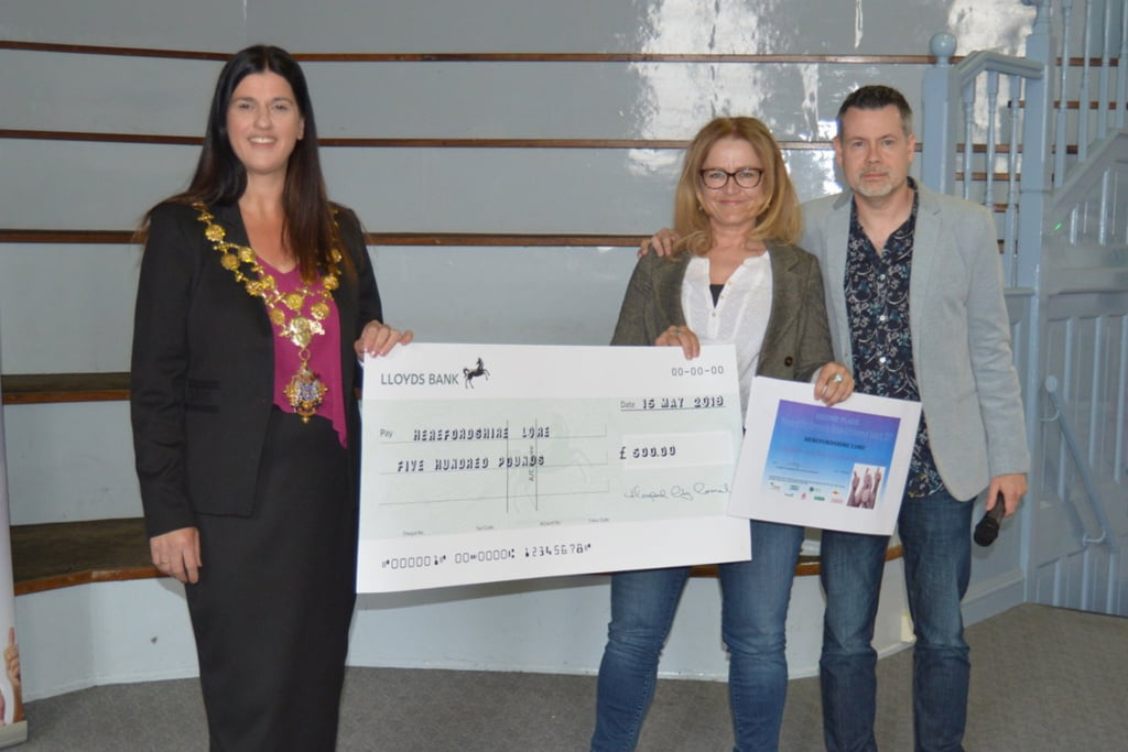 In second place – Herefordshire Lore, who received a cheque for £500