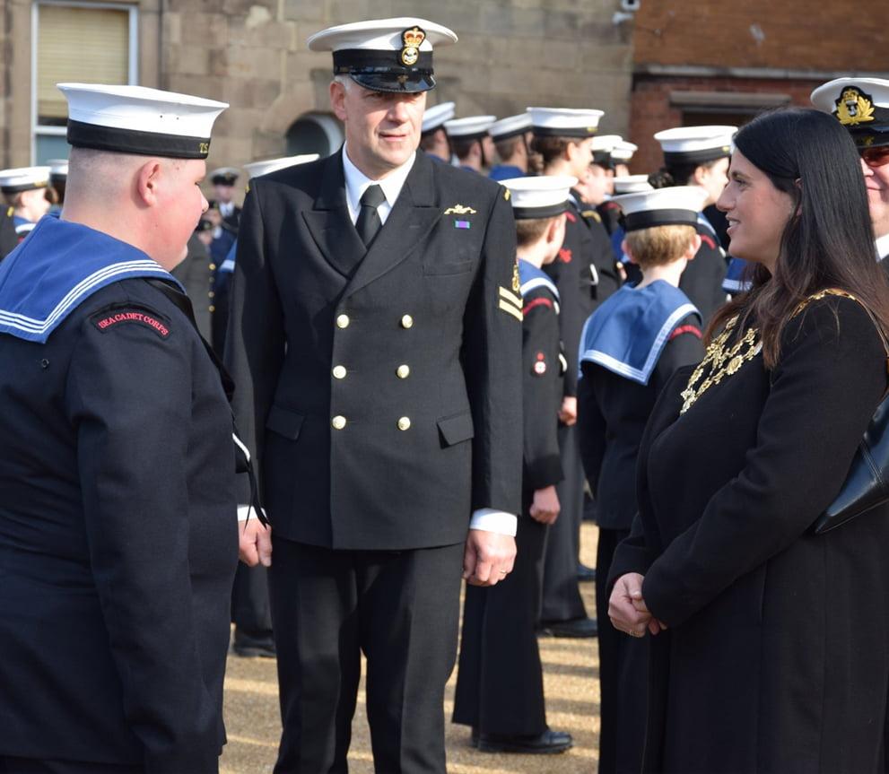 Mayor Kath Hay Meeting The Sea Cadets