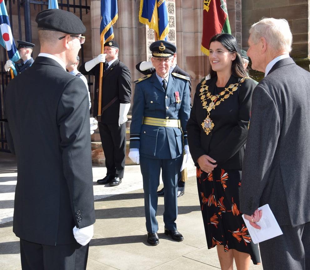 Mayor Kath Hay meeting Military Personal