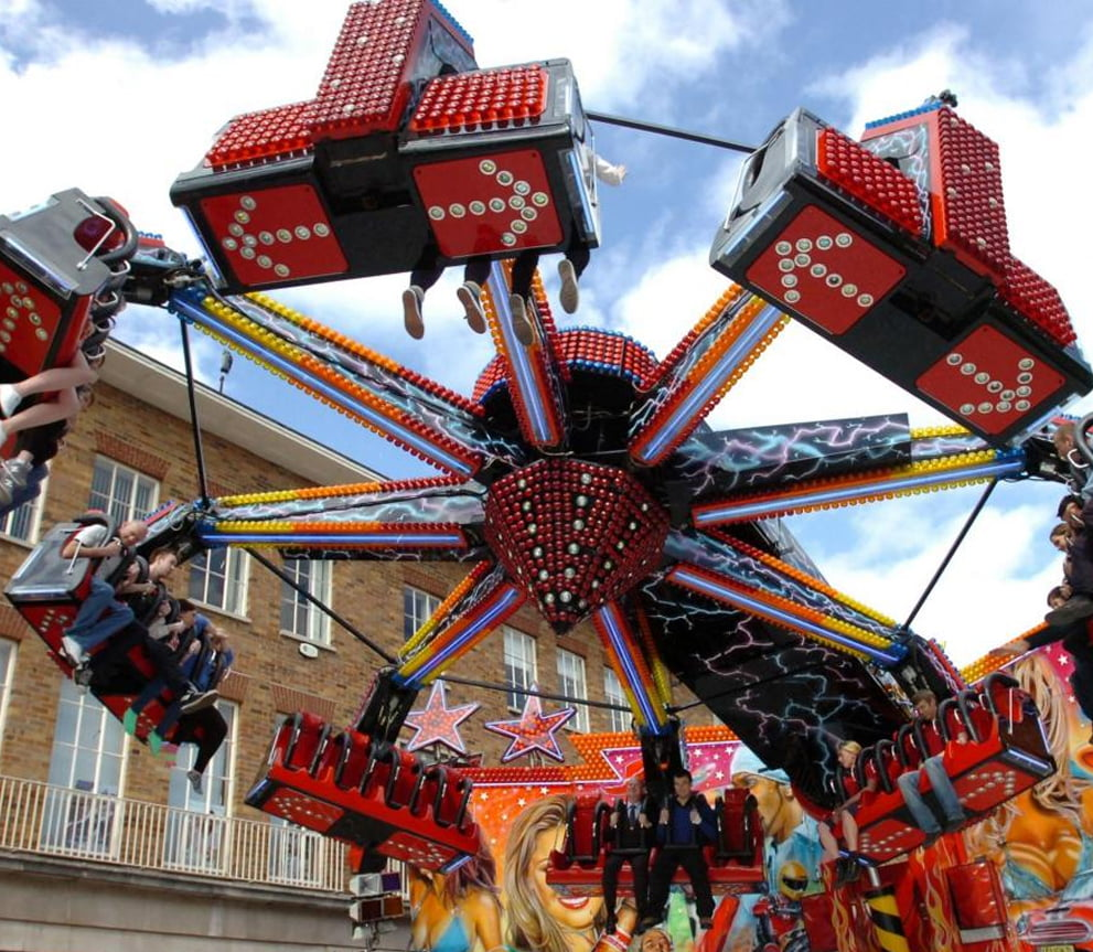 Big Spinning Carnival Ride