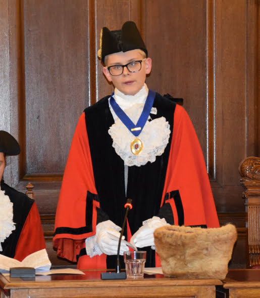 The junior mayor - Theo Ashton
