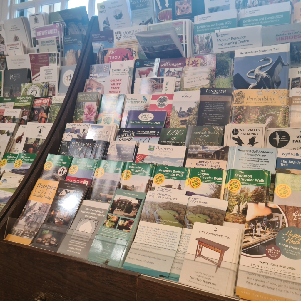 Leaflets of things to do in hereford