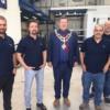 Mayor of Hereford Paul Stevens opens Richard Hammond's new business!