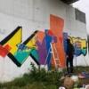 New Graffiti Mural on Canary Bridge